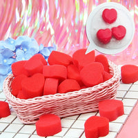 6pcs Red Heart Floam Slime Accessories