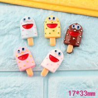 7pcs Smiley  Popsicle Slime Accessories