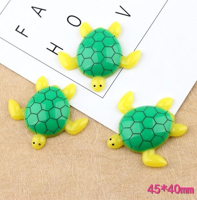 3pcs Cartoon Tortoise Filler Accessories