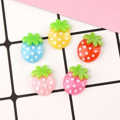 12pcs Strawberry Filler Slime Accessories