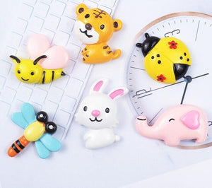 6pcs Cartoon Animals Filler Charms