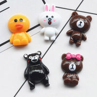 8pcs Cartoon Bear Slime Accessories