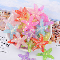 6pcs Crystal Starfish Slime accessories