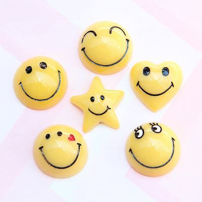 10pcs Shaped Smiley Slime Accesories