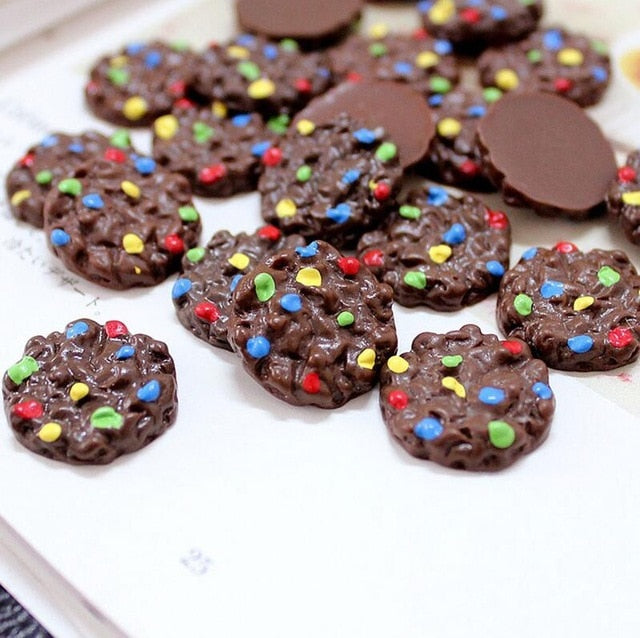 6pcs Chocolate Biscuits Slime Accessories
