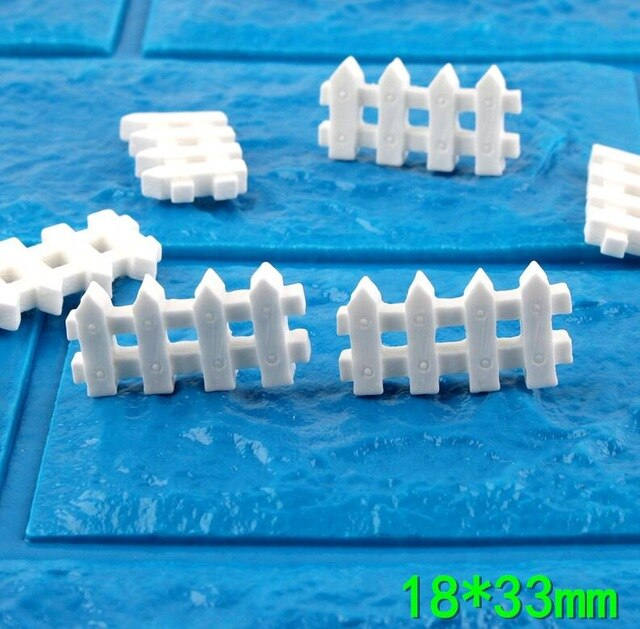 7pcs White Fence Filler Charms