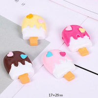 6pcs Popsicle Ice Cream Slime Charms