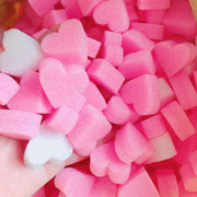 Pink Heart Foam Strip Slime Accessories