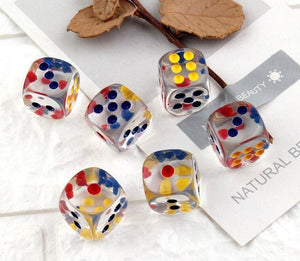 6pcs Cute Dice Filler Accessories