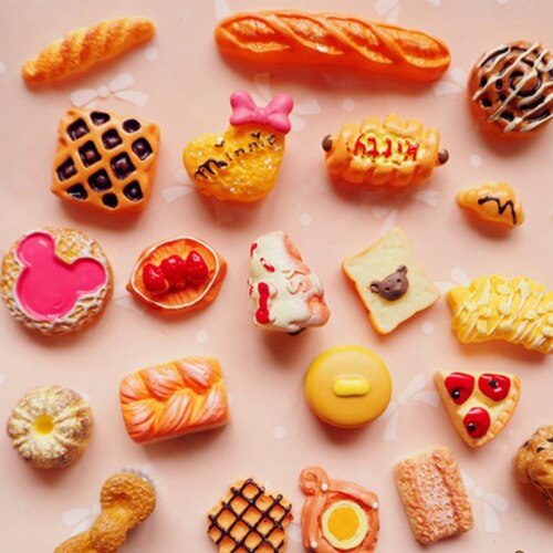 35pcs Mixed Bread Slime Charms