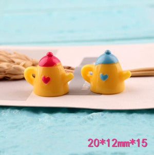 8pcs Mini Teapot Filler Charms
