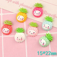 10pcs Smiley Pineapple Slime Accessories
