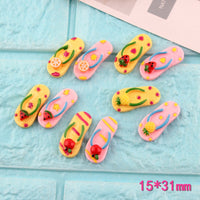 7pcs Fruit slippers Slime Accessories