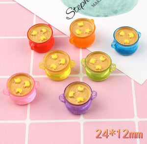 6pcs Soup Pot Filler Slime Accessories