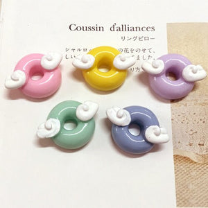 10pcs Wing Candy Donut Slime Accessories