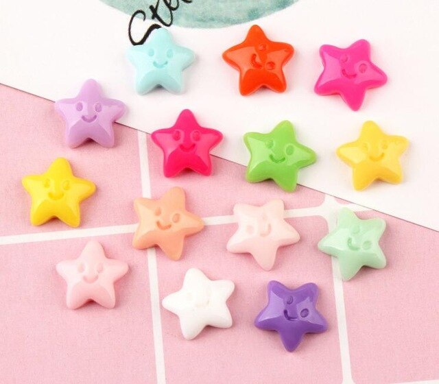 12pcs Smiley Star Filler Slime Accessories