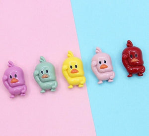7pcs Yellow Duck Slime Charms
