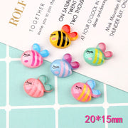 12pcs Pearlescent Bee Slime Accessories