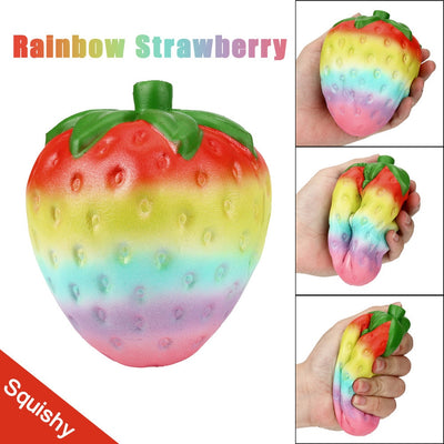 12cm Rainbow Strawberry Scented Squishies
