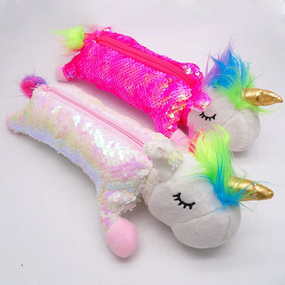 Reversible Sequin Unicorn Pencil Case
