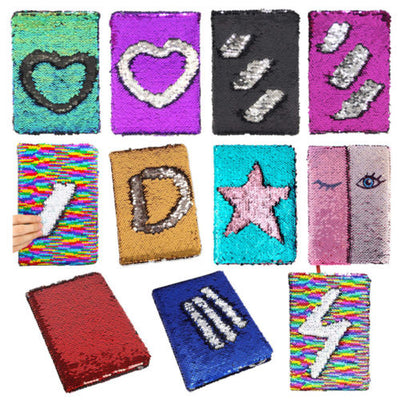 Reversible Sequin A6 Writing Notebook