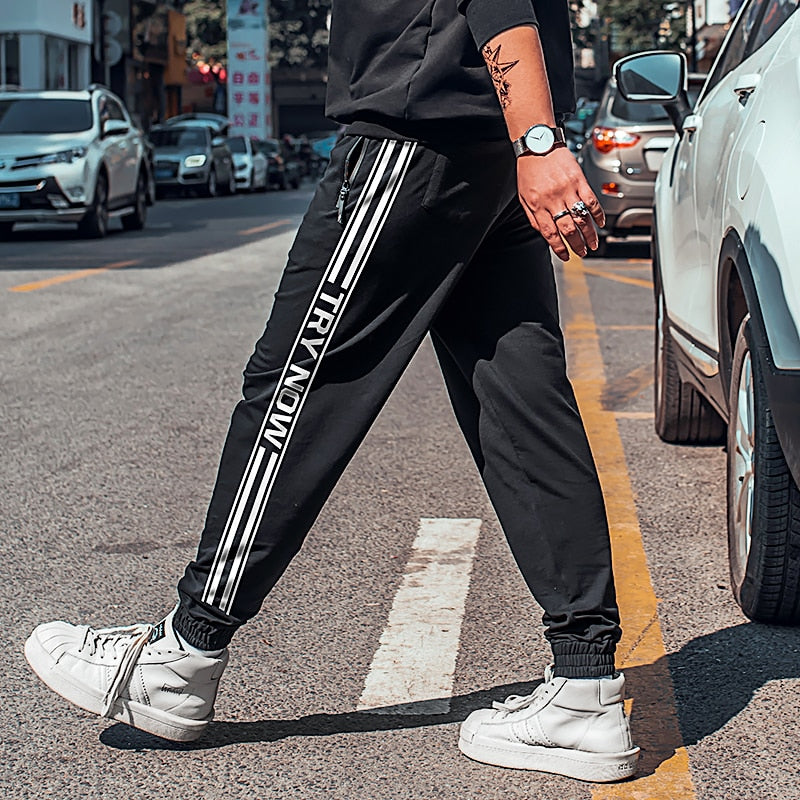 c24d6c1d329 2019 Plus size 6XL Summer Men Printing Stretchy Trousers Jogger Sweatpants  Harem Casual Pants Relaxed Fit