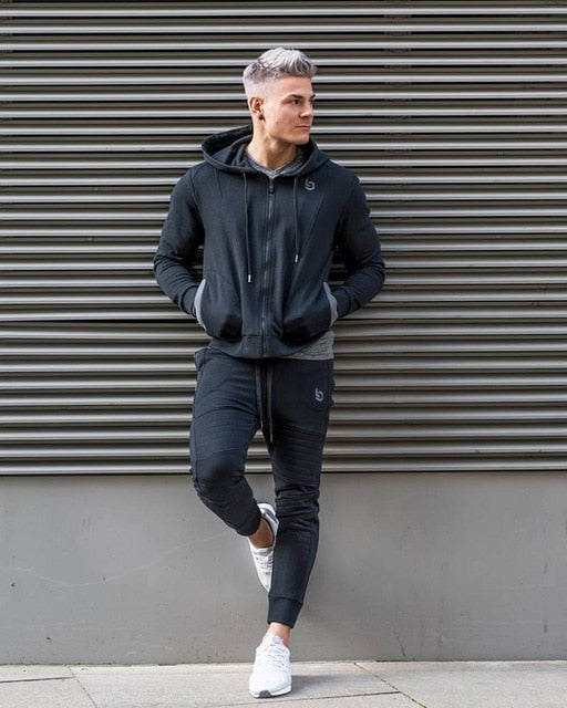0fc6bbd15fc5 2019 brand sporting suit men warm hooded tracksuit track polo men's sweat  suits set letter print