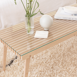 Coal Coffee Table with glass