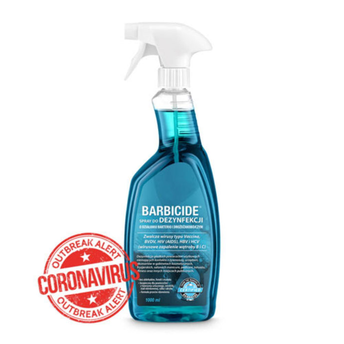 Dezinfekcinis skystis paviršiams | BARBICIDE disinfection spray 1000 ml - AurelijosSPA