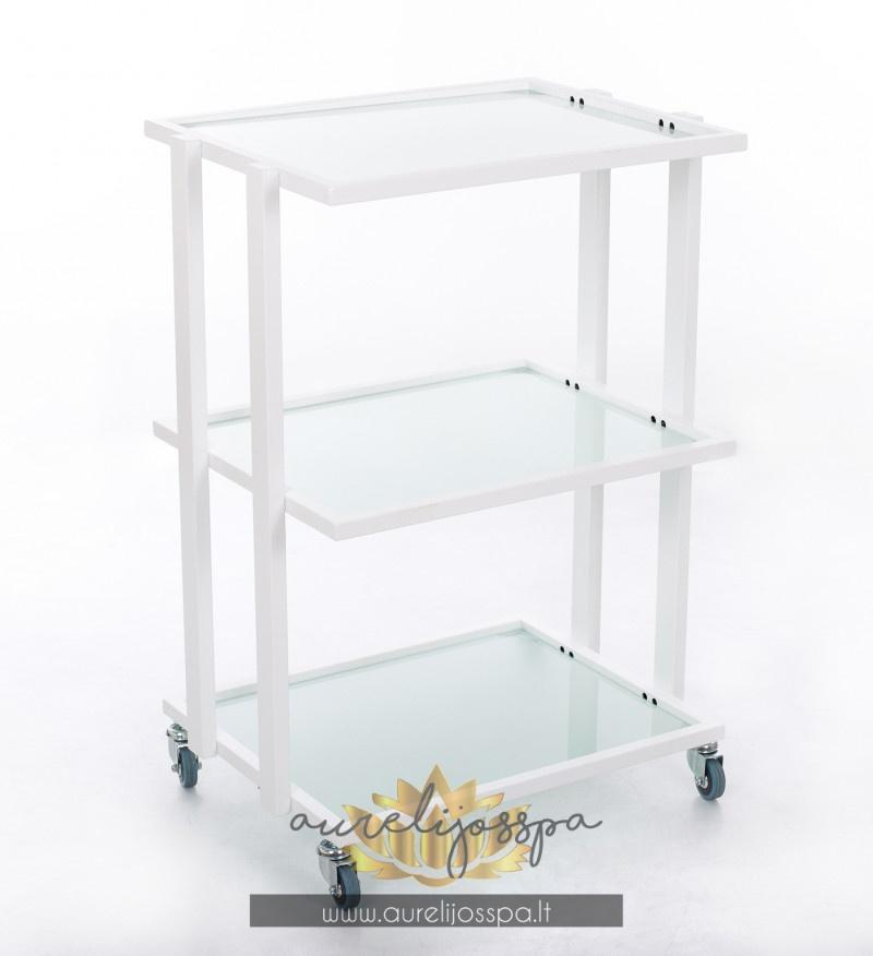 Cosmetology table with castors Glass - AurelijosSPA