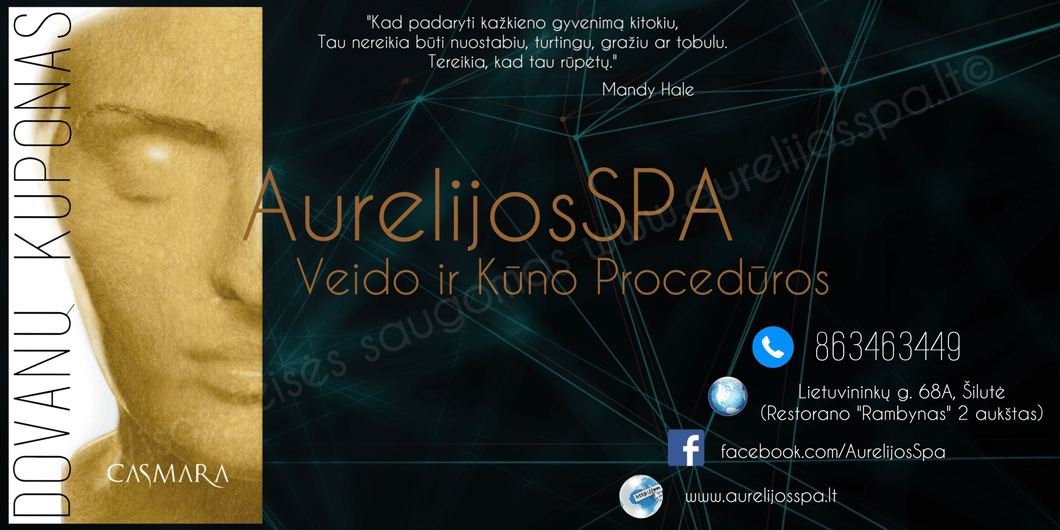 Gift Certificate for Face and Body Treatments - AurelijosSPA