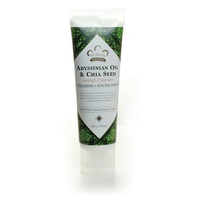 Nubian Heritage: Abyssinian Oil & Chia Seed Hand Cream (4oz)