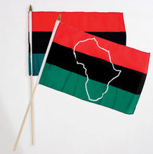 "Load image into Gallery viewer, Pan-African Flag (12""x18"")"