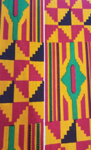 Load image into Gallery viewer, 'Serwa' Kente Print Fabric (6 yds)