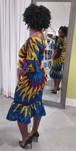 Load image into Gallery viewer, Blue 'Anwu' Elastic Dress