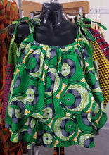 Load image into Gallery viewer, 'Think Green!' Layered Ankara Tank Top
