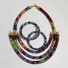 Load image into Gallery viewer, Ankara 3-Row Necklace Sets