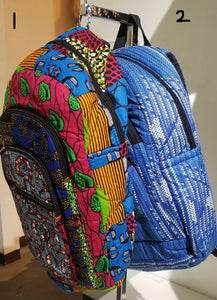 African Print Backpack - Large