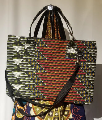 African Print Laptop Tote Bag