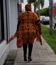Load image into Gallery viewer, Kente Print Open Kaftan