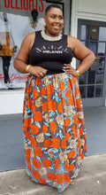 Load image into Gallery viewer, Melange Mode African Flower Maxi Skirt