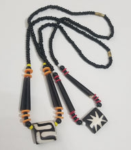 Load image into Gallery viewer, Kuba Print Bone Necklace