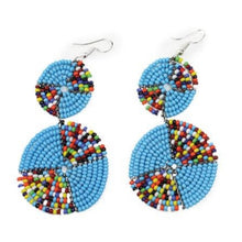 Load image into Gallery viewer, Double Circle Maasai Earrings