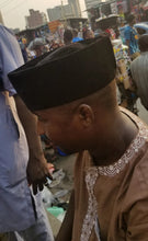 Load image into Gallery viewer, Black Velvet Kufi (African Cap)