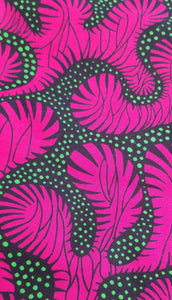 'Pink Tiger' Ankara Fabric (2 yds)