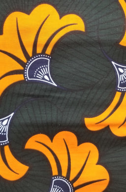 Orange Bloom Ankara Fabric (2 yds)