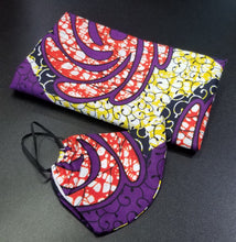 Load image into Gallery viewer, 'Purple Power' Ankara Glam Face Mask (& Set)