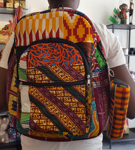 African Print Backpack - Medium
