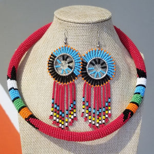 Mandere Maasai Bead Set - Red