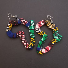 Load image into Gallery viewer, 'Africa' Ankara Earrings
